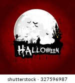 halloween background poster on... | Shutterstock .eps vector #327596987
