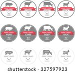 set of labels  badges and... | Shutterstock .eps vector #327597923
