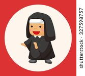 pastor and nun theme elements | Shutterstock .eps vector #327598757