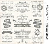 christmas label and design