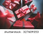 gifts for holiday. | Shutterstock . vector #327609353