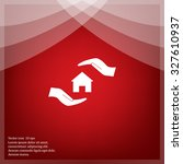protection and home insurance... | Shutterstock .eps vector #327610937