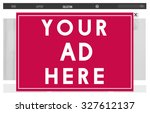 your ad here marketing... | Shutterstock . vector #327612137