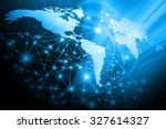 best internet concept. globe ... | Shutterstock . vector #327614327