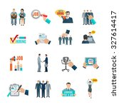 personnel hiring and...   Shutterstock . vector #327614417