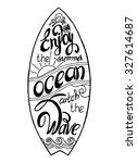 surfboard calligraphy...   Shutterstock .eps vector #327614687