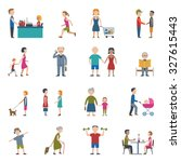 people lifestyle man and woman... | Shutterstock . vector #327615443