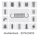 flexible metal spiral springs... | Shutterstock . vector #327615653