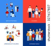 family design concept set with... | Shutterstock . vector #327617837