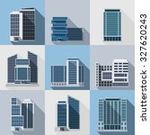 office and business buildings... | Shutterstock . vector #327620243