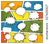blank comic speech and sound... | Shutterstock . vector #327620327