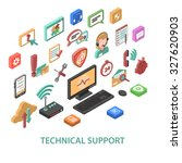 technical support concept with... | Shutterstock . vector #327620903