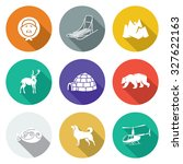 chukchi and the far north icons ... | Shutterstock . vector #327622163