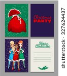 christmas sketch with space for ... | Shutterstock .eps vector #327624437