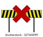 warning sign with yellow and... | Shutterstock . vector #32764099