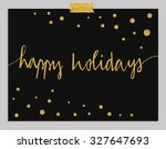 hand drawn typography card.... | Shutterstock .eps vector #327647693