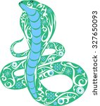 snake with drawing  a cobra ... | Shutterstock .eps vector #327650093
