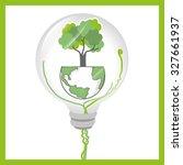 go green and ecology design ... | Shutterstock .eps vector #327661937
