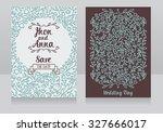 wedding invitation cards ... | Shutterstock .eps vector #327666017