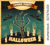 halloween vector illustration   ... | Shutterstock .eps vector #327676103