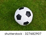 soccer football on green grass... | Shutterstock . vector #327682907