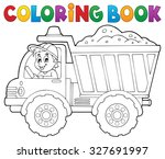 coloring book sand truck theme...