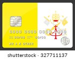 a credit card illustration with ...