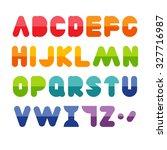 colorful alphabet set | Shutterstock .eps vector #327716987