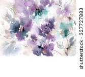 floral background.  watercolor... | Shutterstock . vector #327727883