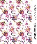 seamless bohemian pattern.... | Shutterstock . vector #327736073