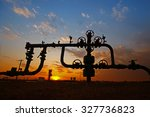 pipes and valves   | Shutterstock . vector #327736823
