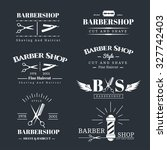 vector set of retro barber... | Shutterstock .eps vector #327742403
