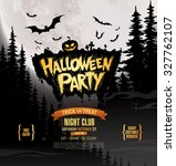 halloween party. vector... | Shutterstock .eps vector #327762107