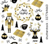 christmas pattern with deer