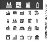 public buildings icons | Shutterstock .eps vector #327779213