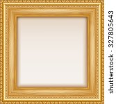 empty gold frame hanging on the ... | Shutterstock .eps vector #327805643