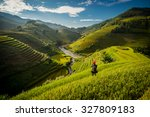 beautiful rice terraces in the... | Shutterstock . vector #327809183