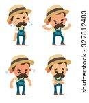 cartoon farmers   Shutterstock .eps vector #327812483