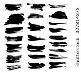 textured dry black paint... | Shutterstock .eps vector #327814373