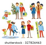 people  couples  family with... | Shutterstock .eps vector #327826463