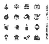 christmas icons  mono series | Shutterstock .eps vector #327831803