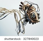 concept of artificial wooden... | Shutterstock . vector #327840023