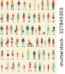 people seamless pattern with... | Shutterstock .eps vector #327845303