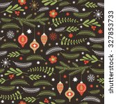 seamless christmas pattern | Shutterstock .eps vector #327853733