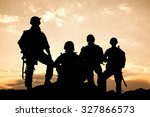 united states army rangers on... | Shutterstock . vector #327866573