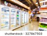 abstract blurred supermarket ... | Shutterstock . vector #327867503