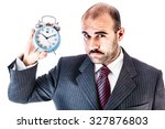 portrait of a businessman with... | Shutterstock . vector #327876803
