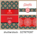 set of cards or invitations... | Shutterstock .eps vector #327879287