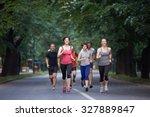 people group jogging  runners... | Shutterstock . vector #327889847