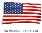 closeup of american flag on... | Shutterstock . vector #327897743